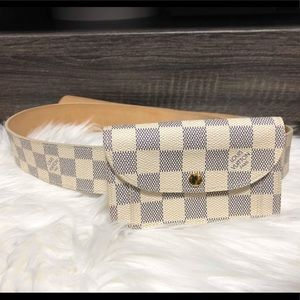 LOUIS VUITTON DAMIER AZURE SOLO BELT WALLET/BAG